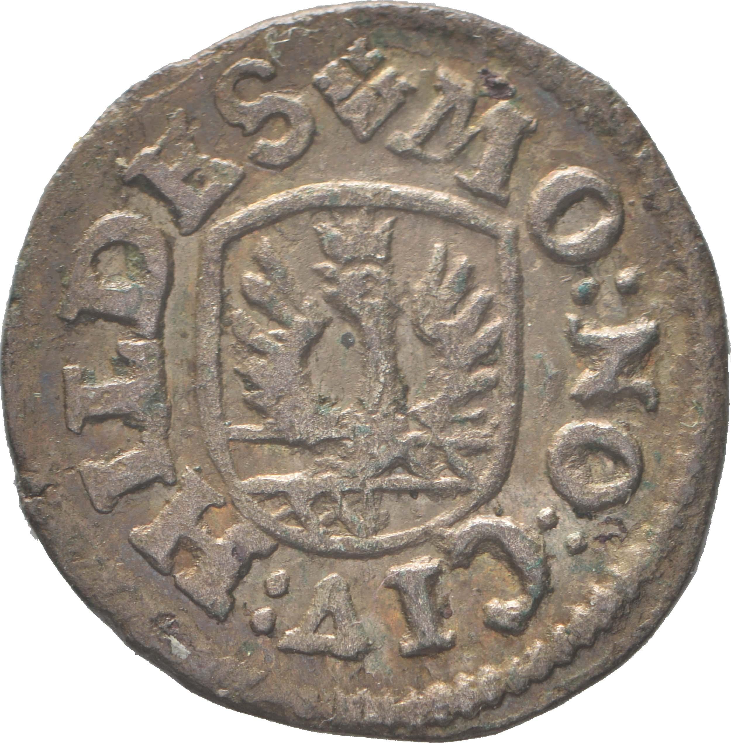 Rückseite :Deutschland : 4 Pfennig   1730 vz.