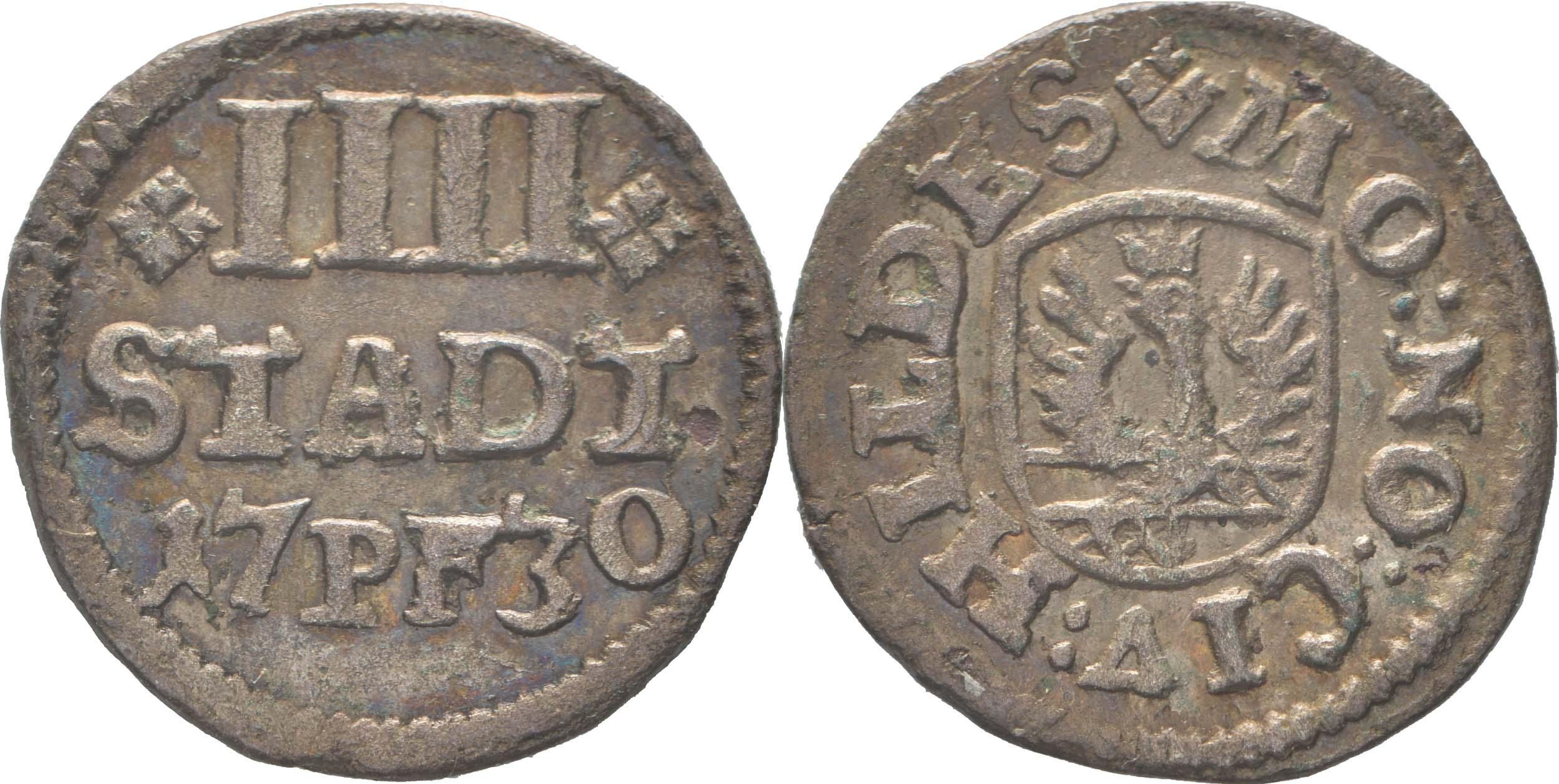 Deutschland : 4 Pfennig   1730 vz.