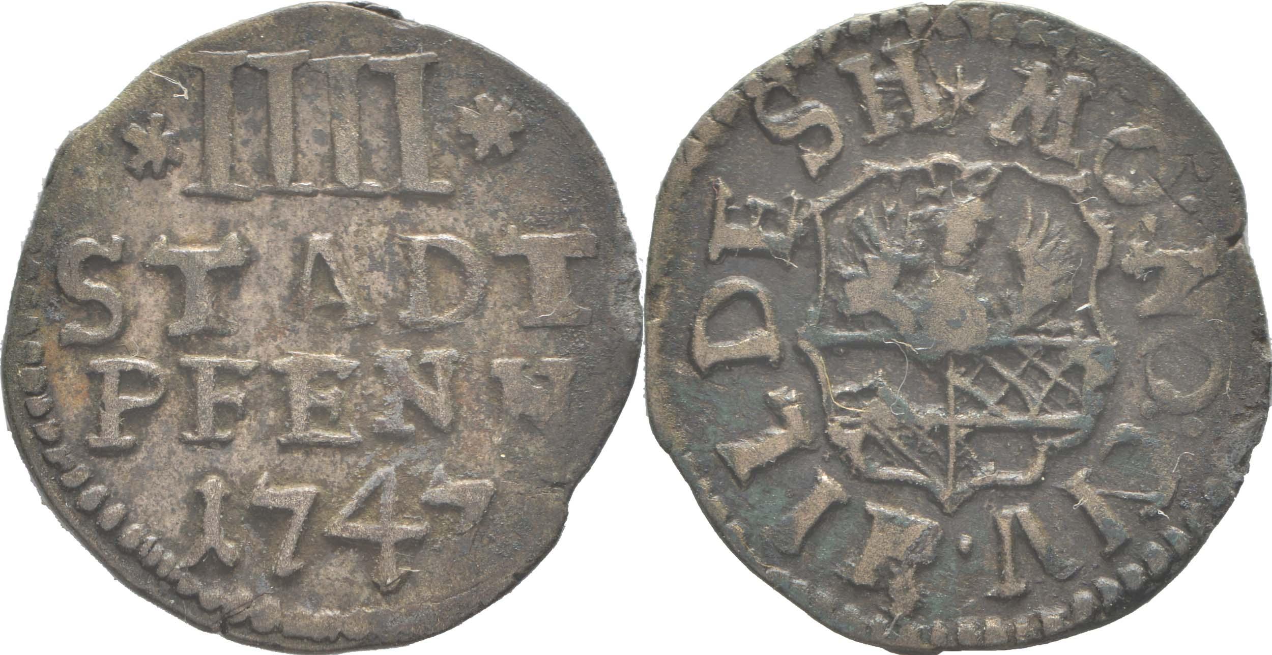 Übersicht:Deutschland : 4 Pfennig   1747 ss.