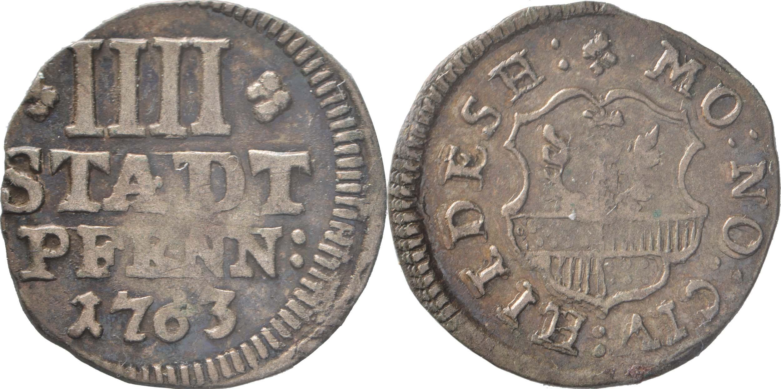 Deutschland : 4 Pfennig   1763 ss.