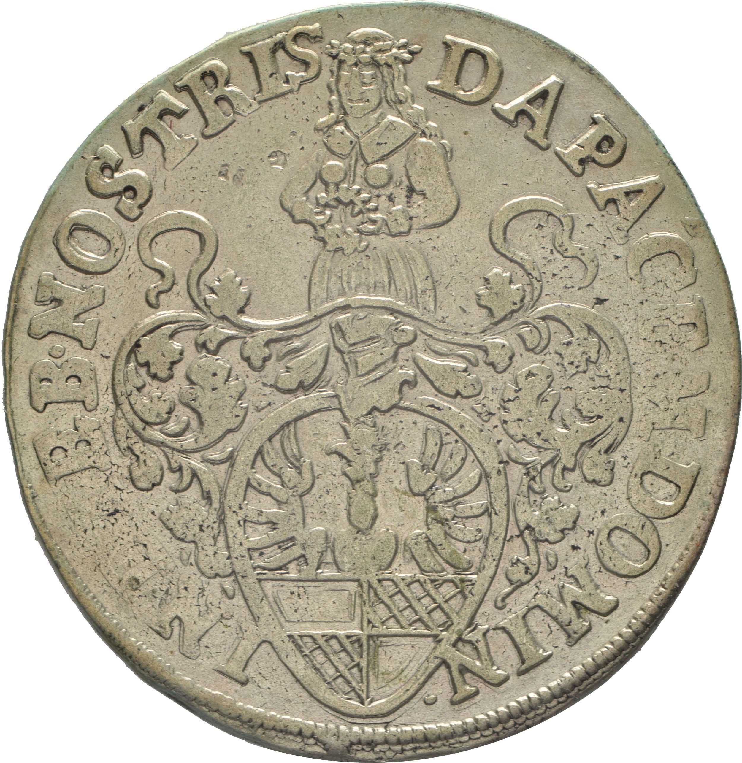 Rückseite:Deutschland : 6 Mariengroschen  -selten- 1668 ss.
