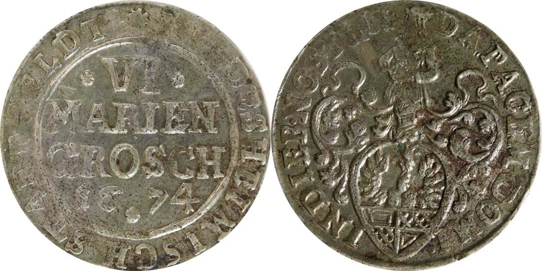 Deutschland : 6 Mariengroschen   1674 ss.