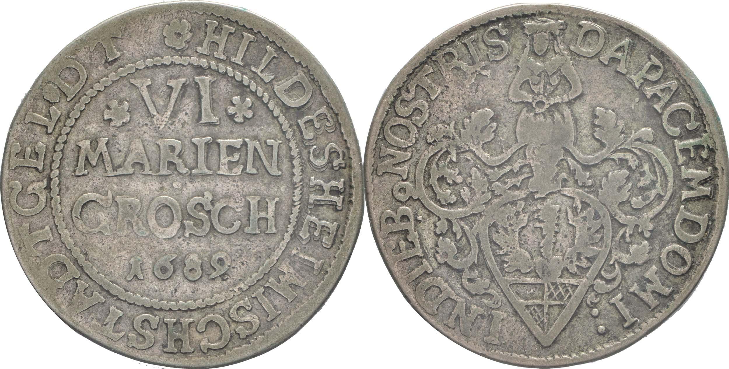 Deutschland : 6 Mariengroschen   1689 ss.