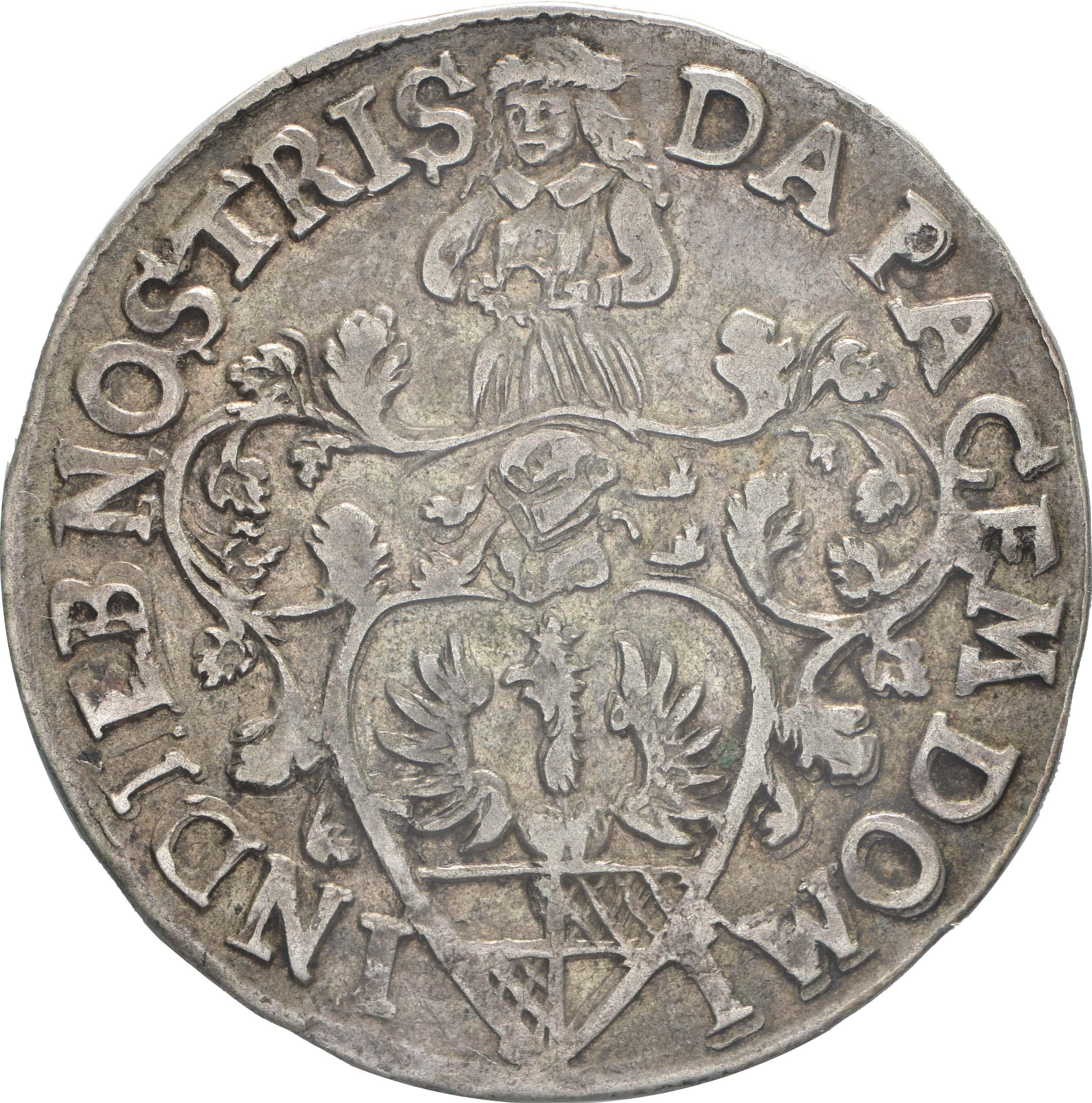 Rückseite:Deutschland : 12 Mariengroschen   1676 ss/vz.