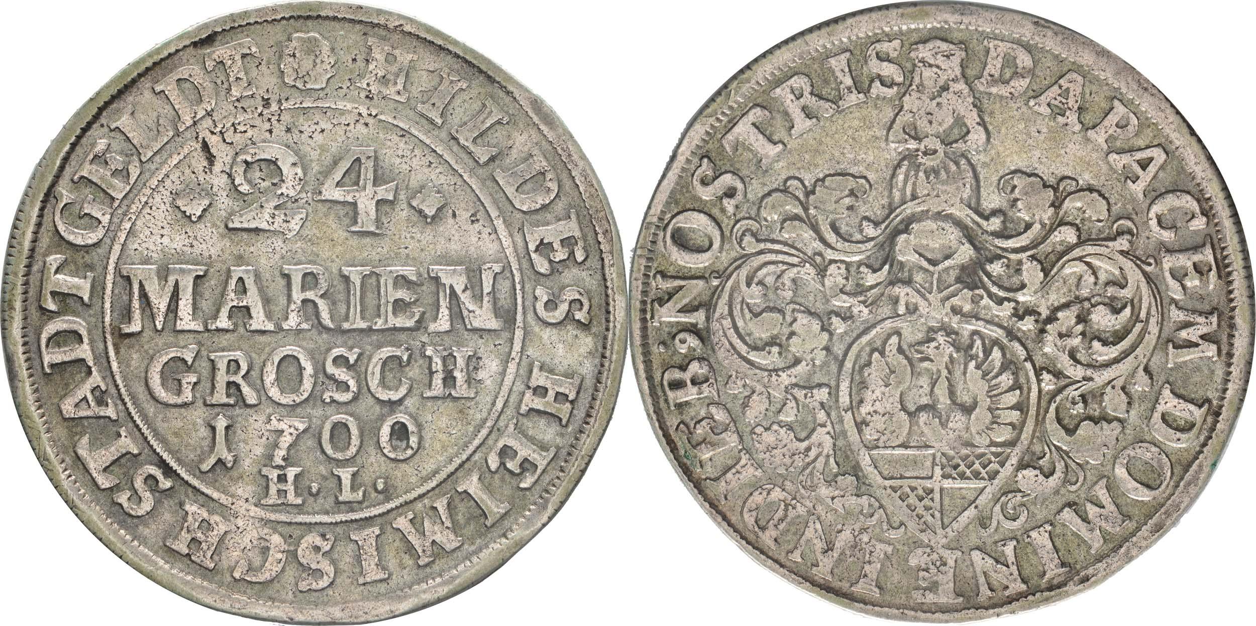 Übersicht:Deutschland : 24 Mariengroschen   1700 ss.