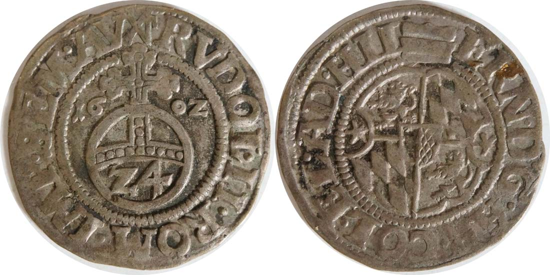 Deutschland : 1/24 Taler Ernst von Bayern  1602 ss.