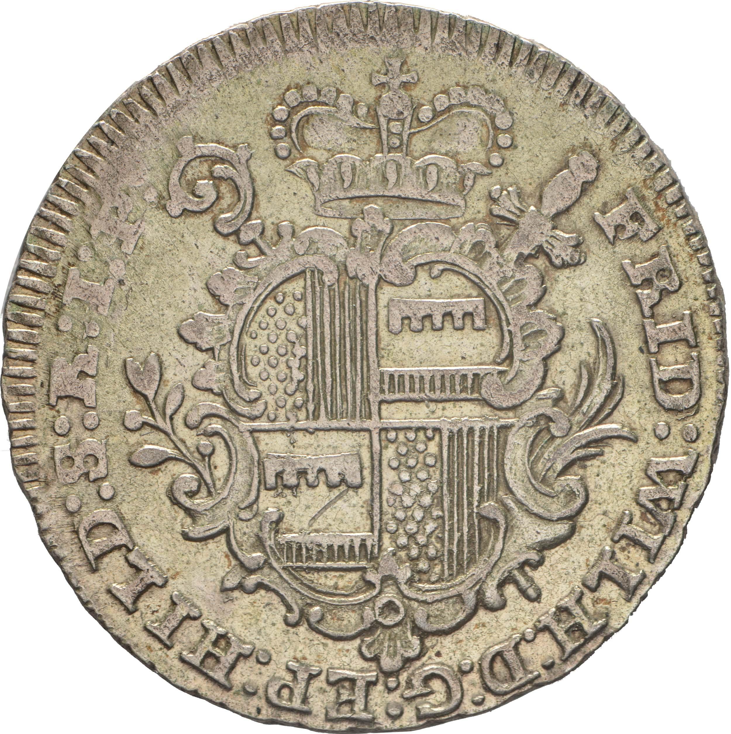 Rückseite :Deutschland : 1/6 Taler Friedrich Wilhelm von Westfalen !Erhaltung! 1764 vz.