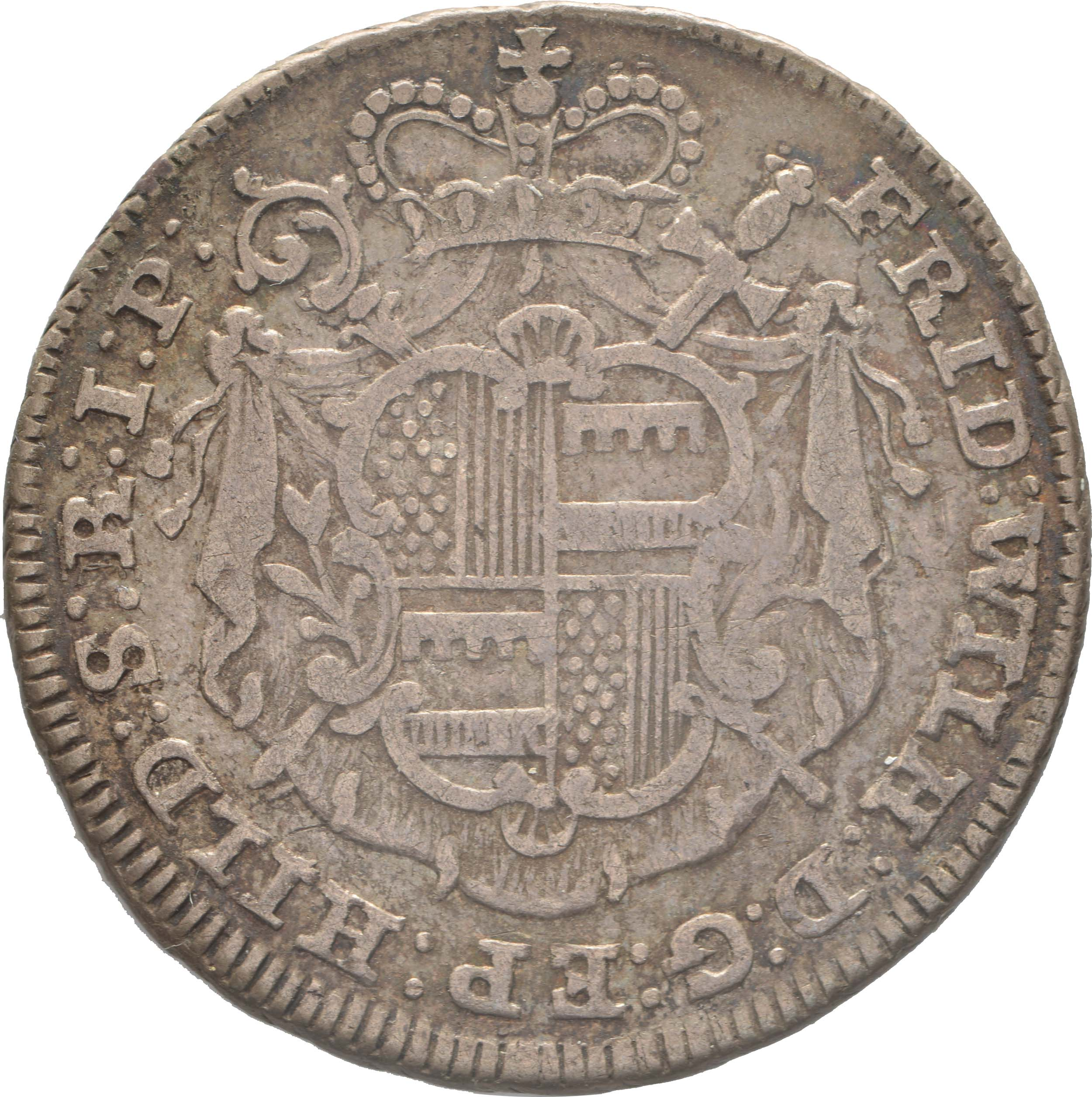 Rückseite:Deutschland : 1/6 Taler Friedrich Wilhelm von Westfalen  1764 ss/vz.