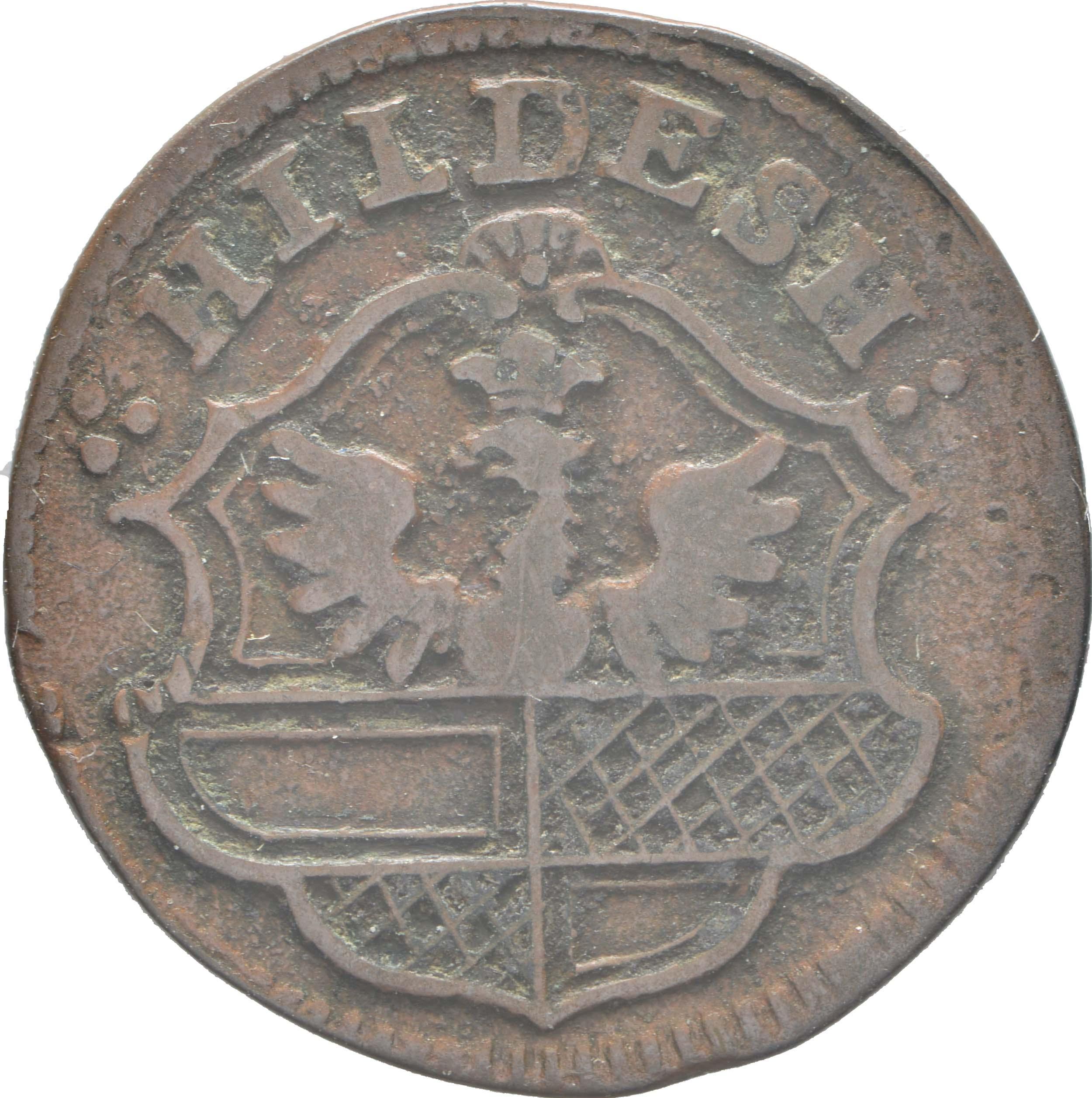 Rückseite :Deutschland : 1 Pfennig  -selten- 1772 vz.