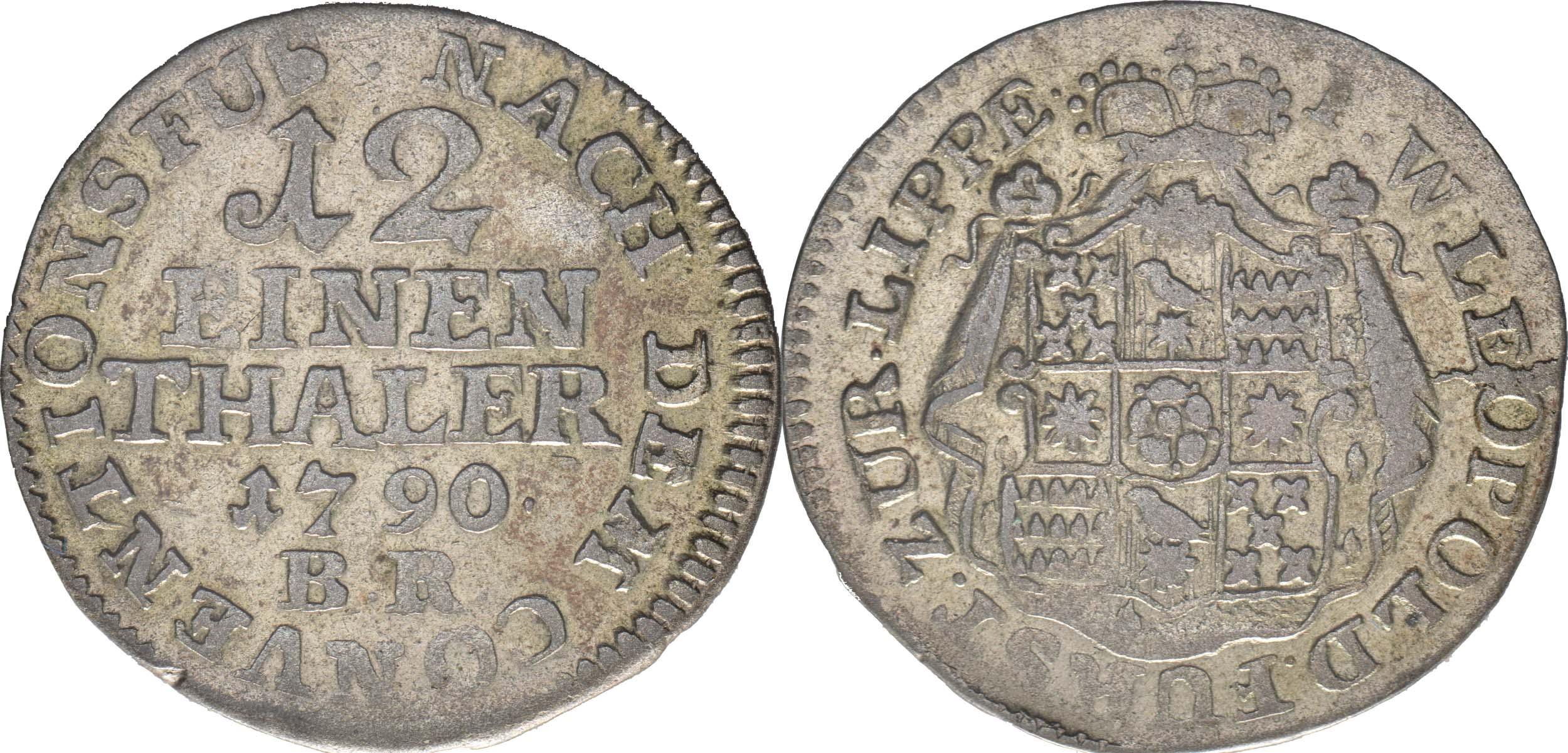Übersicht:Deutschland : 1/12 Taler Wilhelm Leopold  1790 ss.