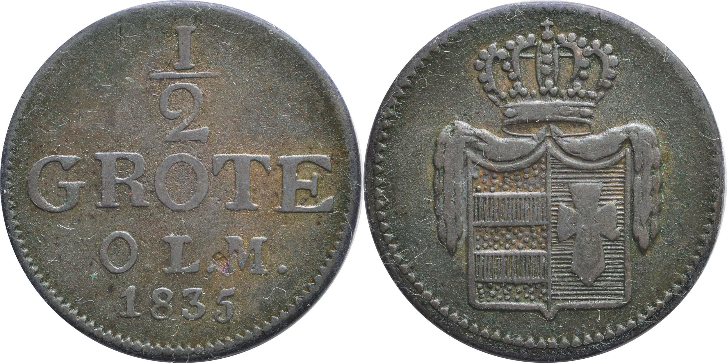 Deutschland : 1/2 Grote   1835 ss.