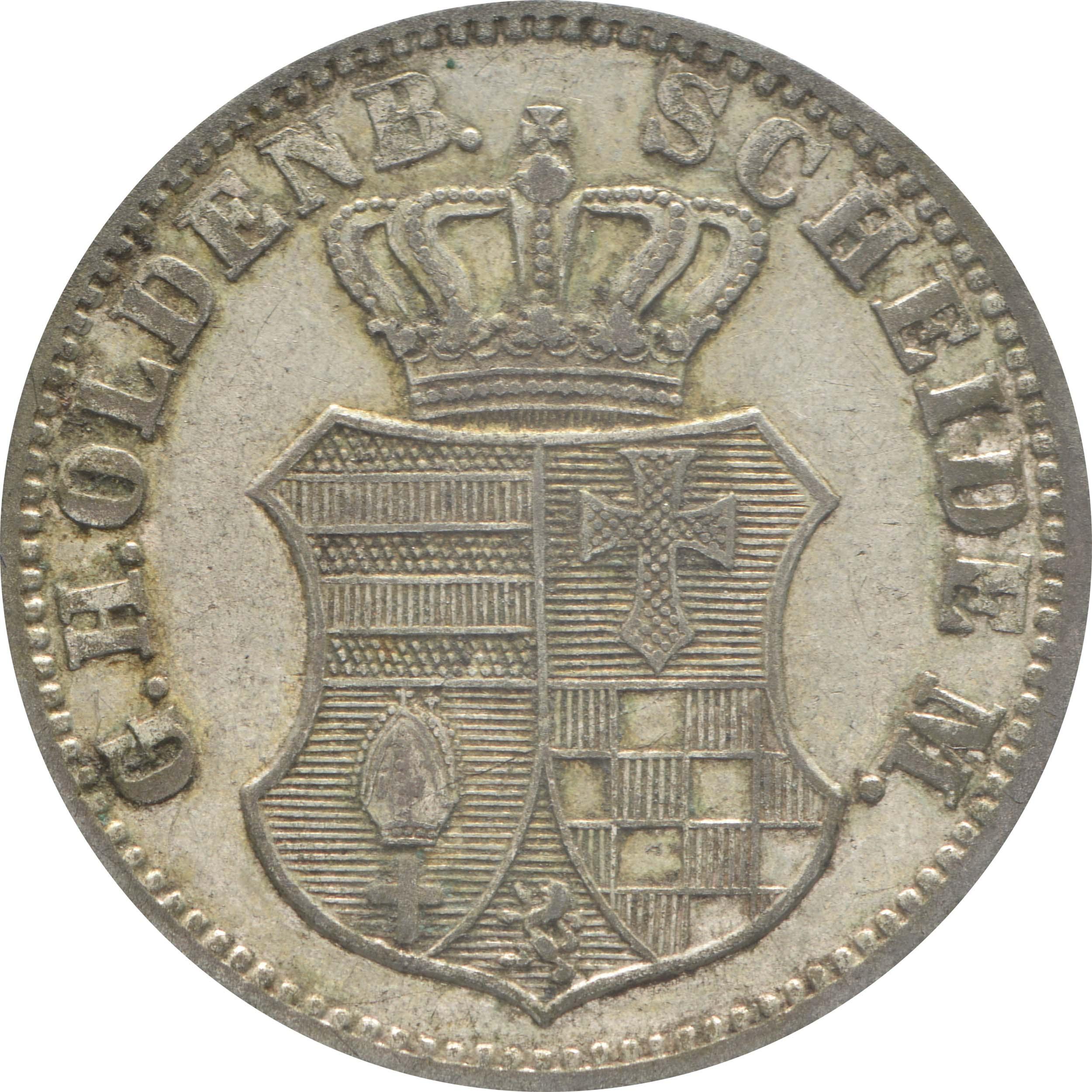 Rückseite :Deutschland : 1 Groschen   1866 ss.