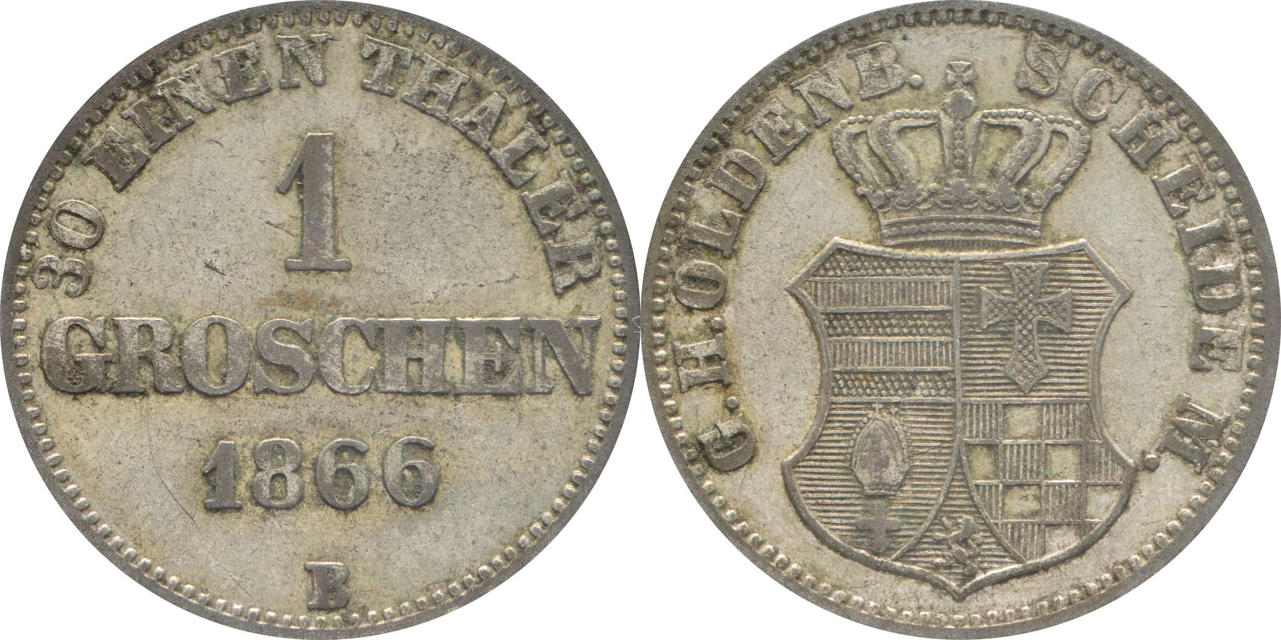 Lieferumfang:Deutschland : 1 Groschen   1866 ss.