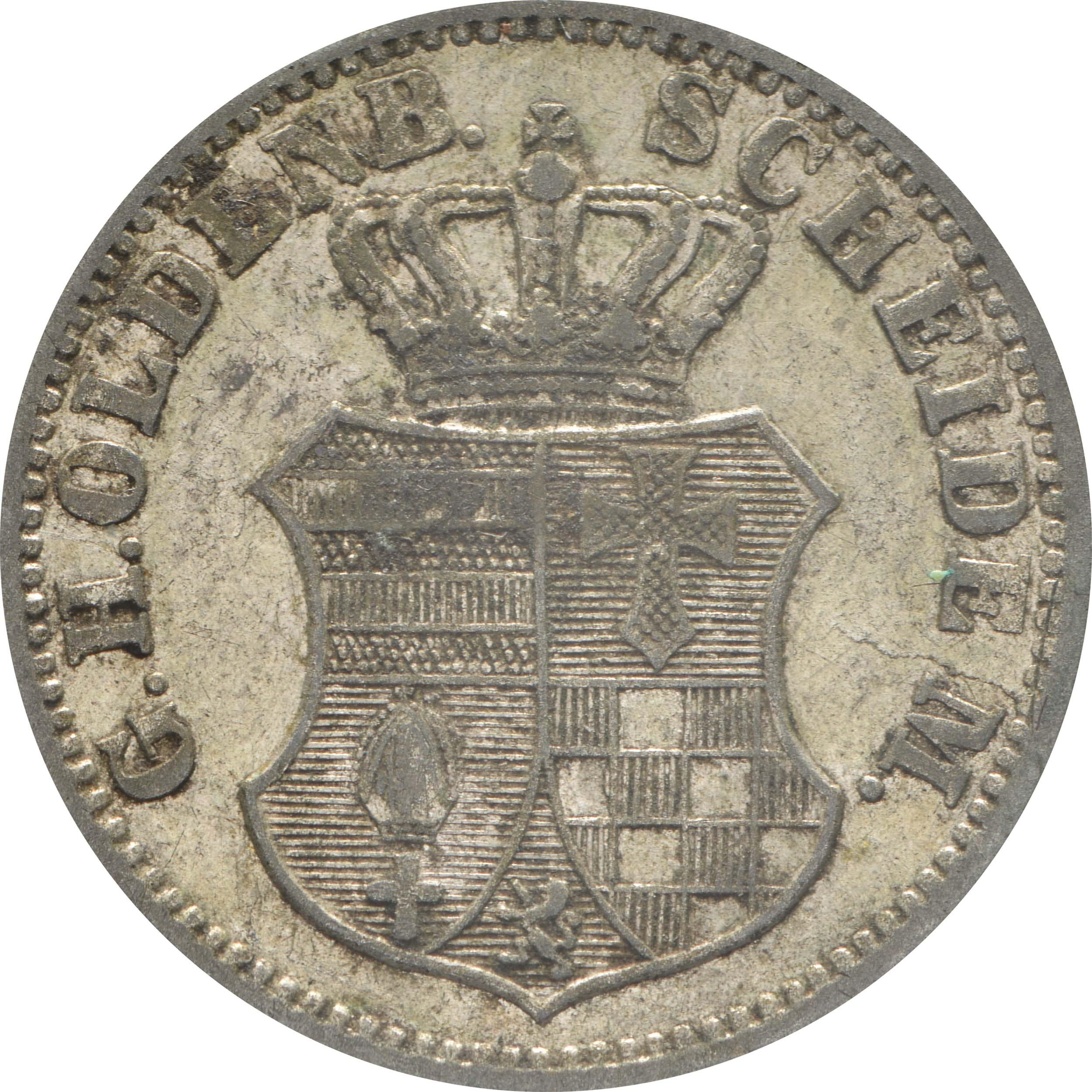Rückseite:Deutschland : 1 Groschen   1866 f.ss
