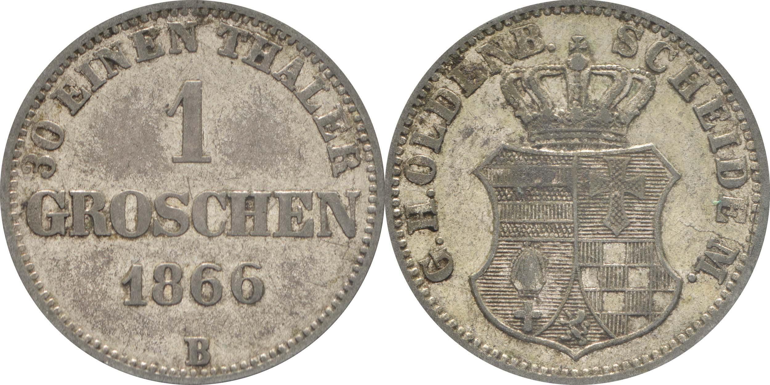 Deutschland : 1 Groschen   1866 f.ss