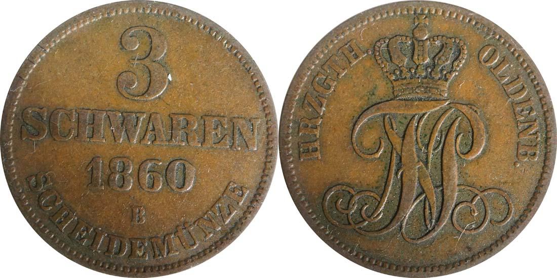 Übersicht:Deutschland : 3 Schwaren   1860 ss/vz.