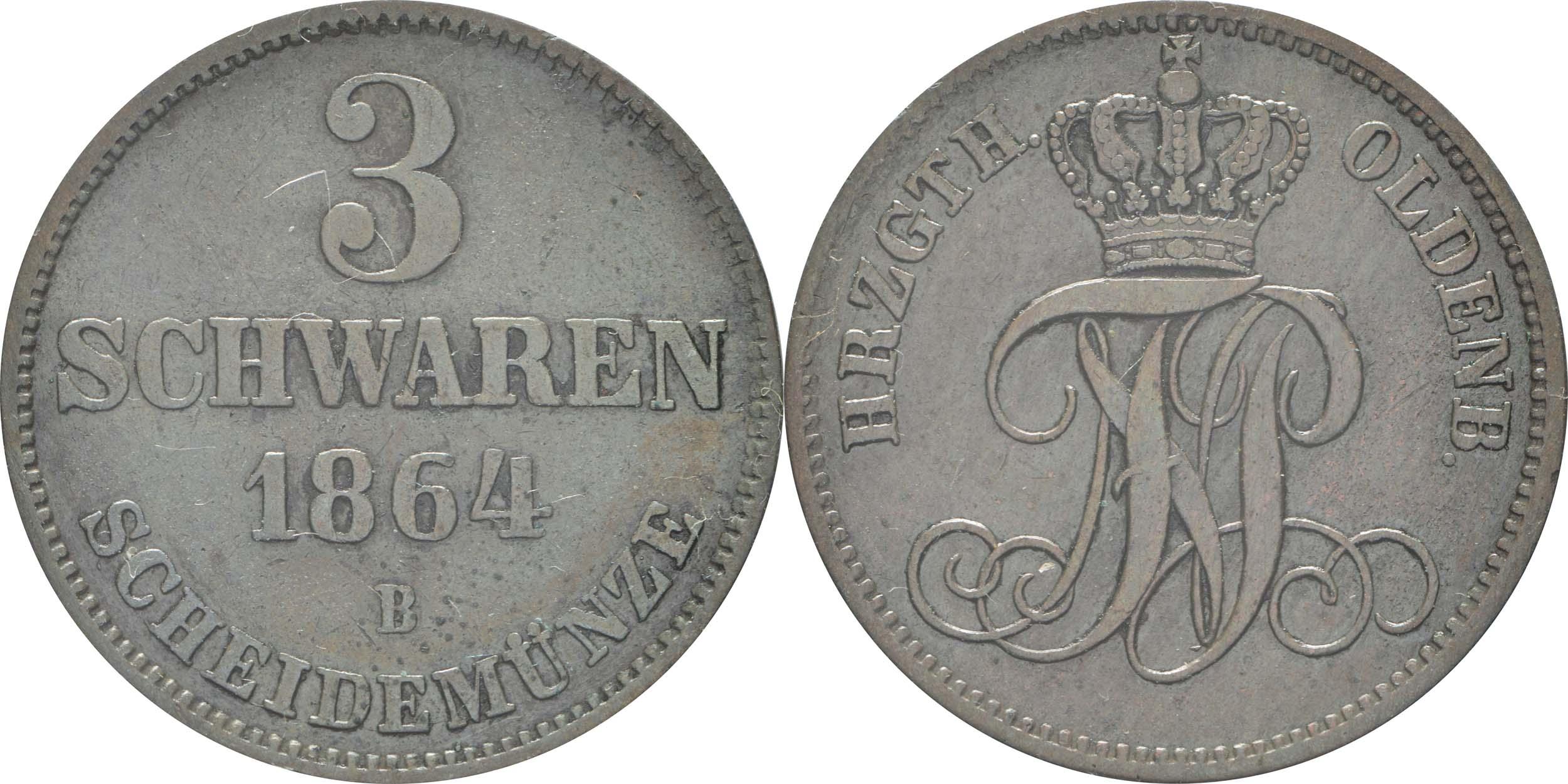 Deutschland : 3 Schwaren   1964 ss/vz.