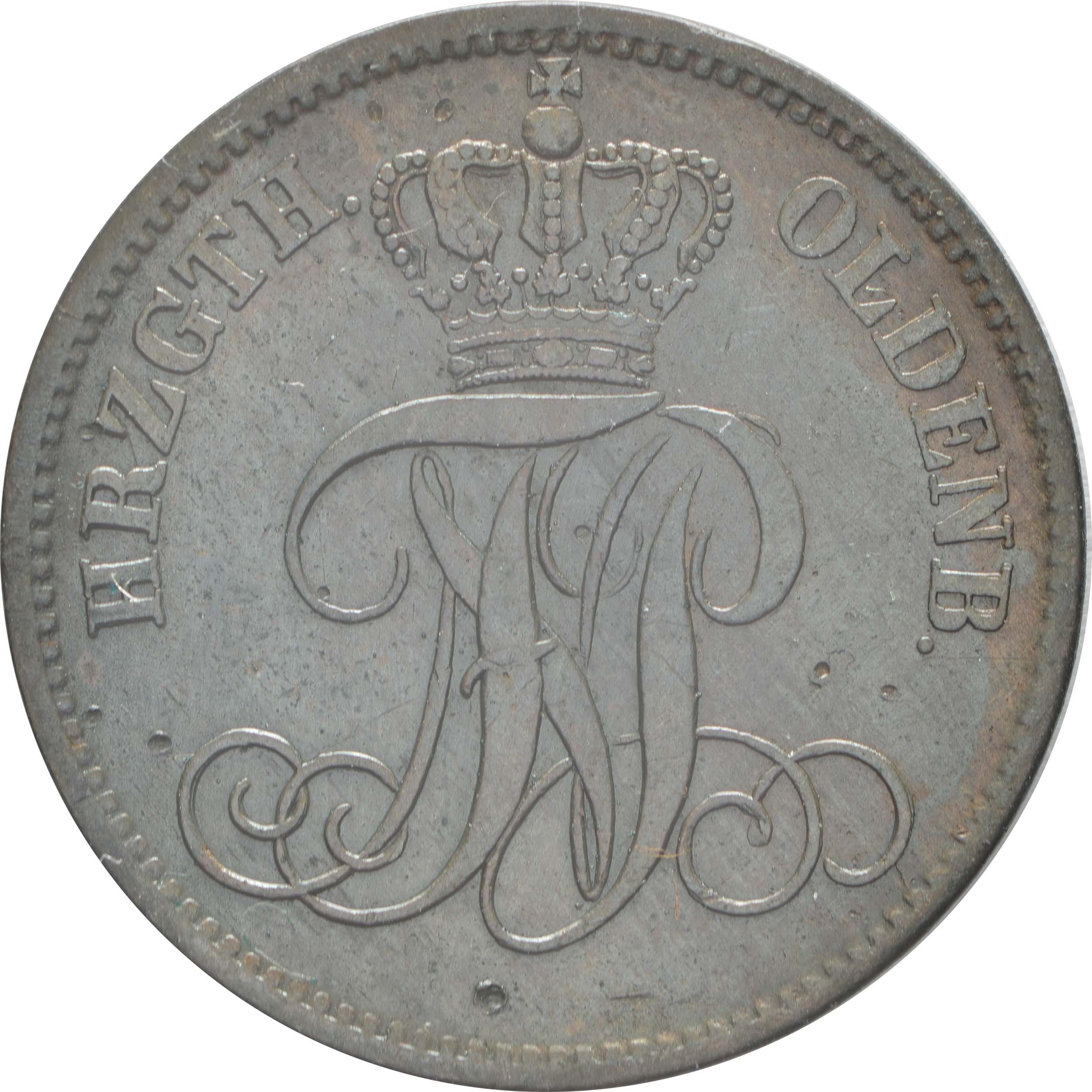 Rückseite:Deutschland : 3 Schwaren   1865 ss/vz.