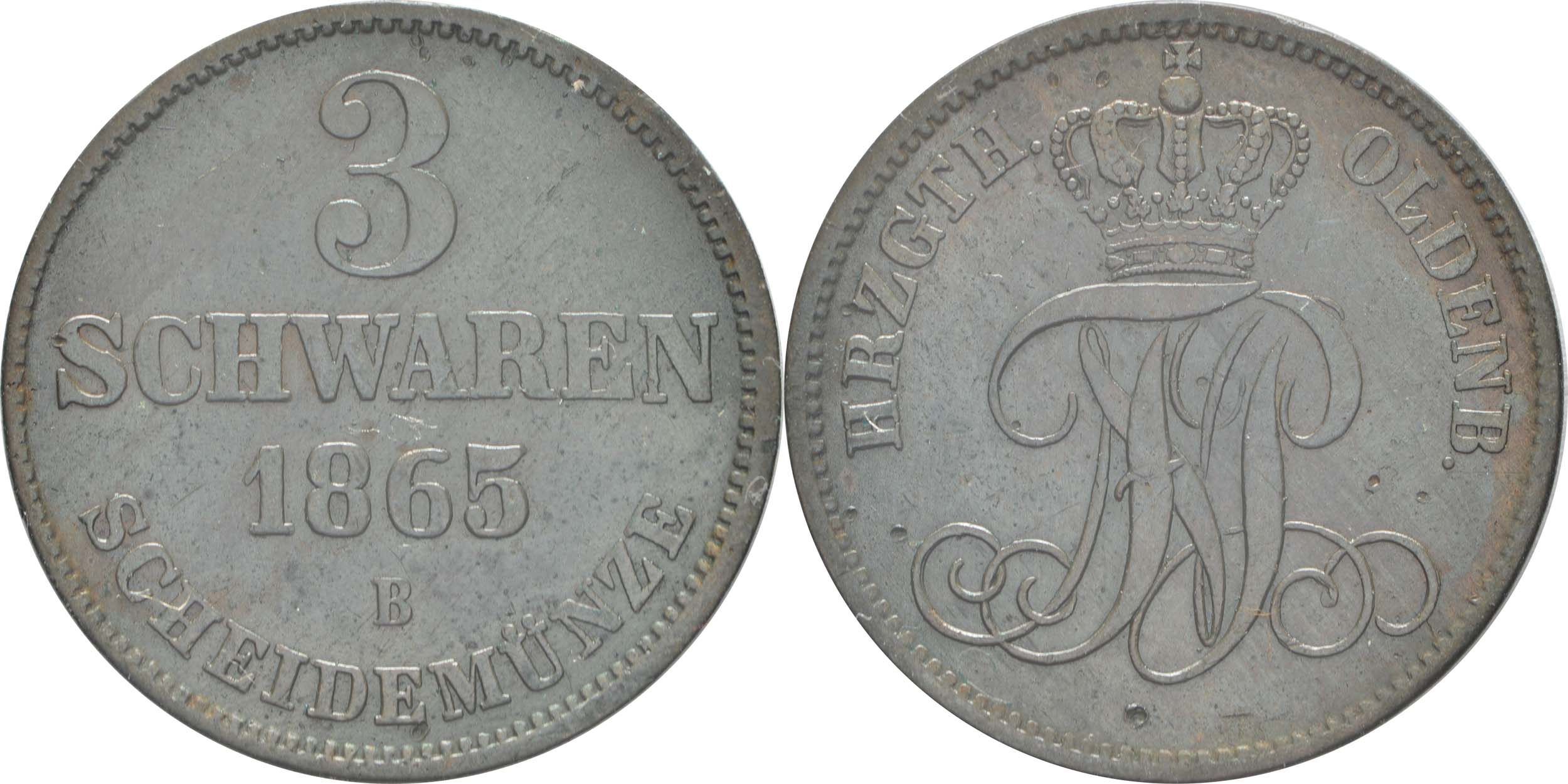 Lieferumfang:Deutschland : 3 Schwaren   1865 ss/vz.