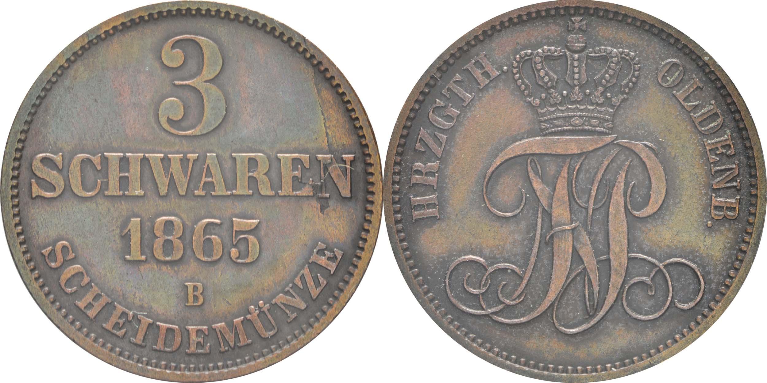 Lieferumfang:Deutschland : 3 Schwaren   1865 vz.