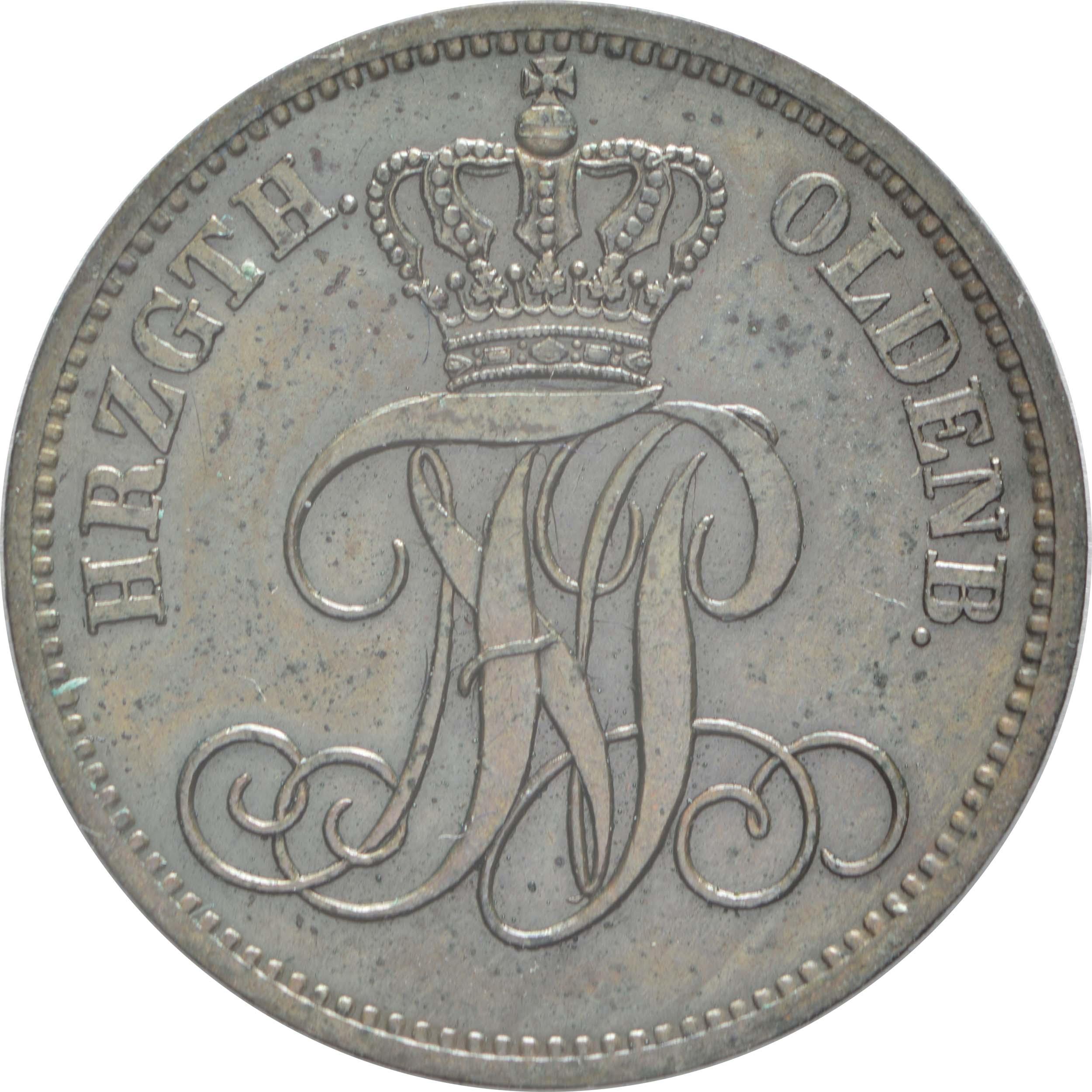 Rückseite :Deutschland : 3 Schwaren   1866 vz.