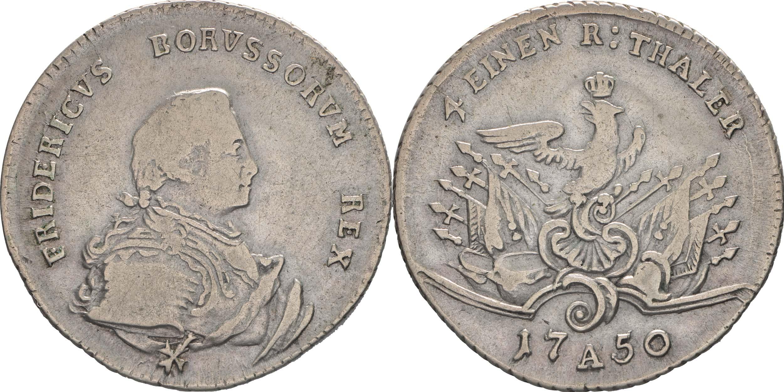 Bild des Lieferumfangs :Deutschland - 1/4 Taler   1750 ss.