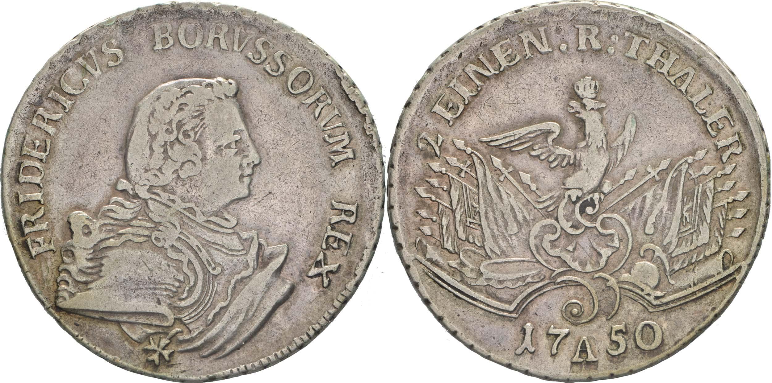 Deutschland : 1/2 Reichstaler   1750 ss/vz.