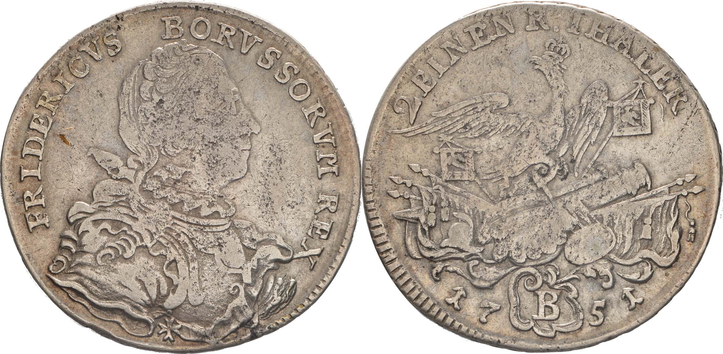 Deutschland : 1/2 Reichstaler   1751 s/ss.