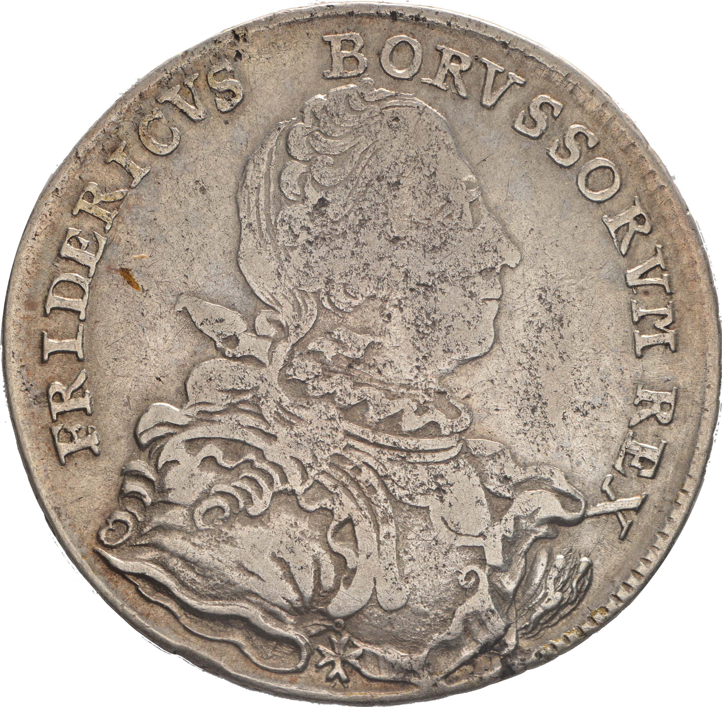 Vorderseite:Deutschland : 1/2 Reichstaler   1751 s/ss.
