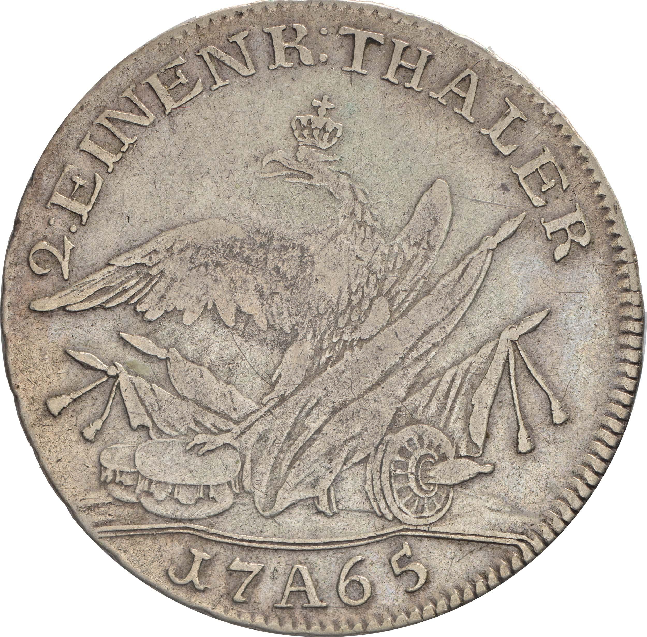 Rückseite:Deutschland : 1/2 Reichstaler   1765 f.ss