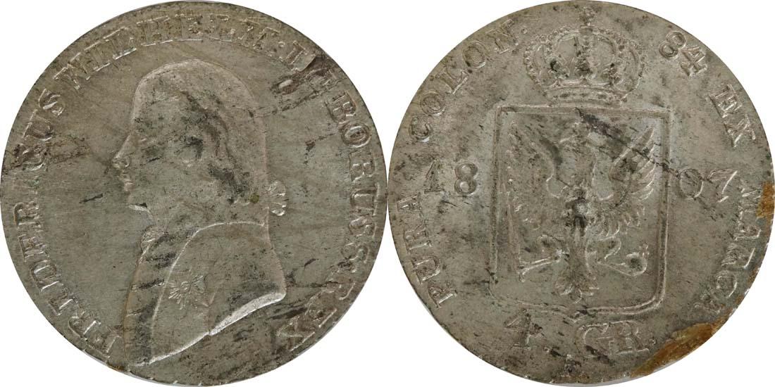 Deutschland : 4 Groschen  Schrtlf. 1807 vz.
