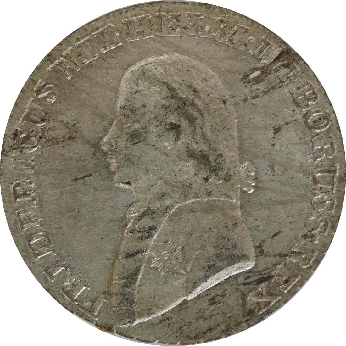 Vorderseite:Deutschland : 4 Groschen  Schrtlf. 1807 vz.
