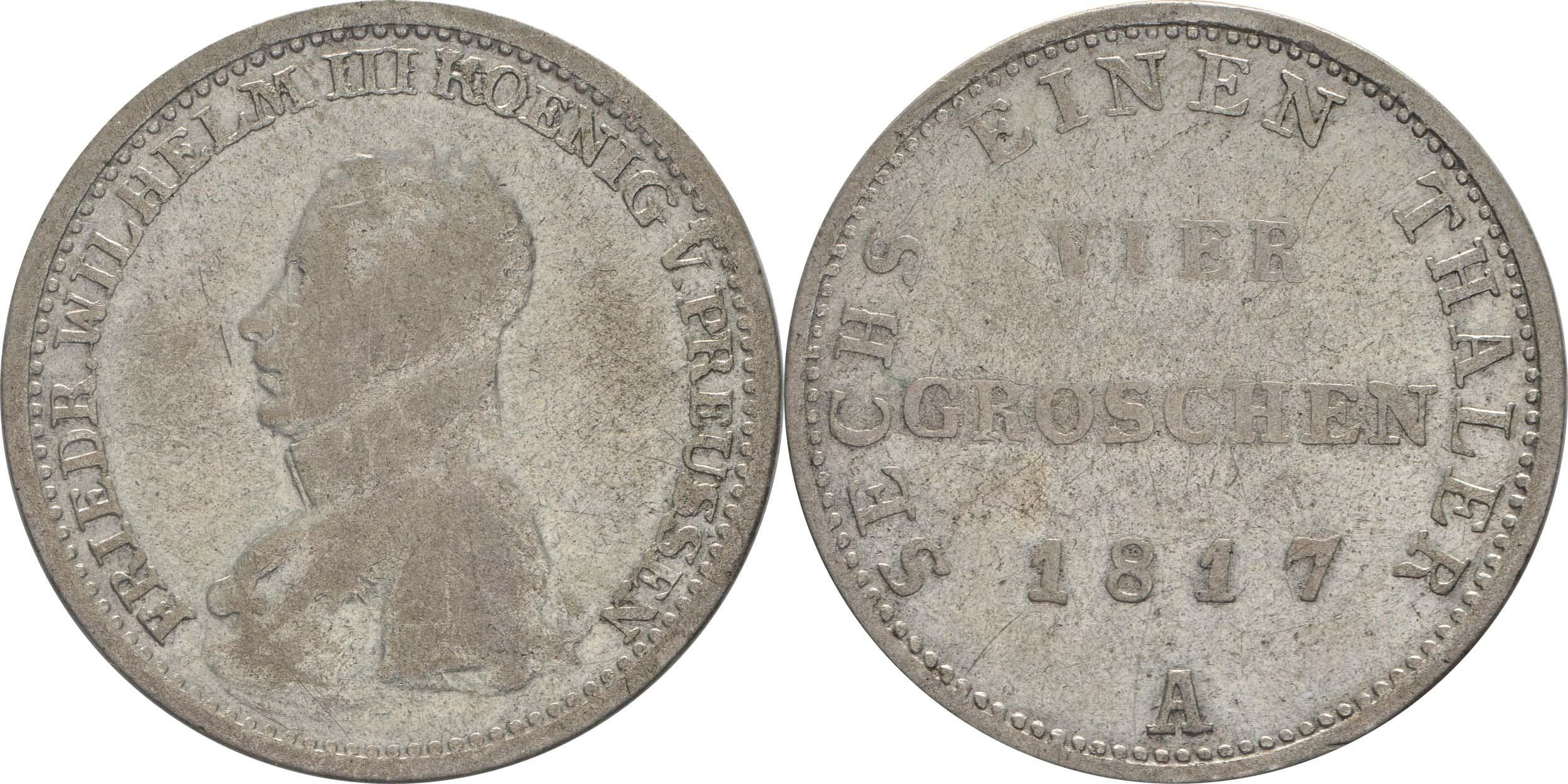 Deutschland : 1/6 Taler   1817 f.ss