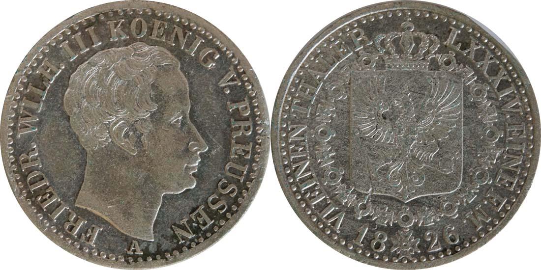 Deutschland : 1/6 Taler   1826 ss.