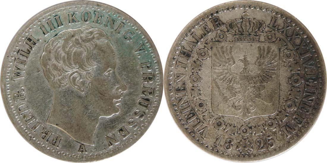 Lieferumfang:Deutschland : 1/6 Taler   1825 ss.