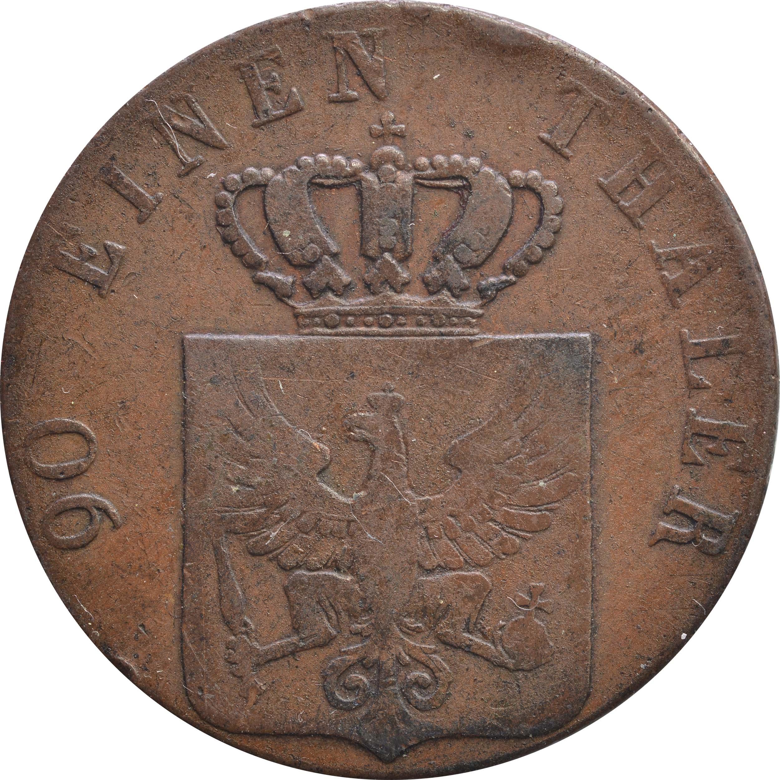 Rückseite:Deutschland : 4 Pfennig   1821 ss.