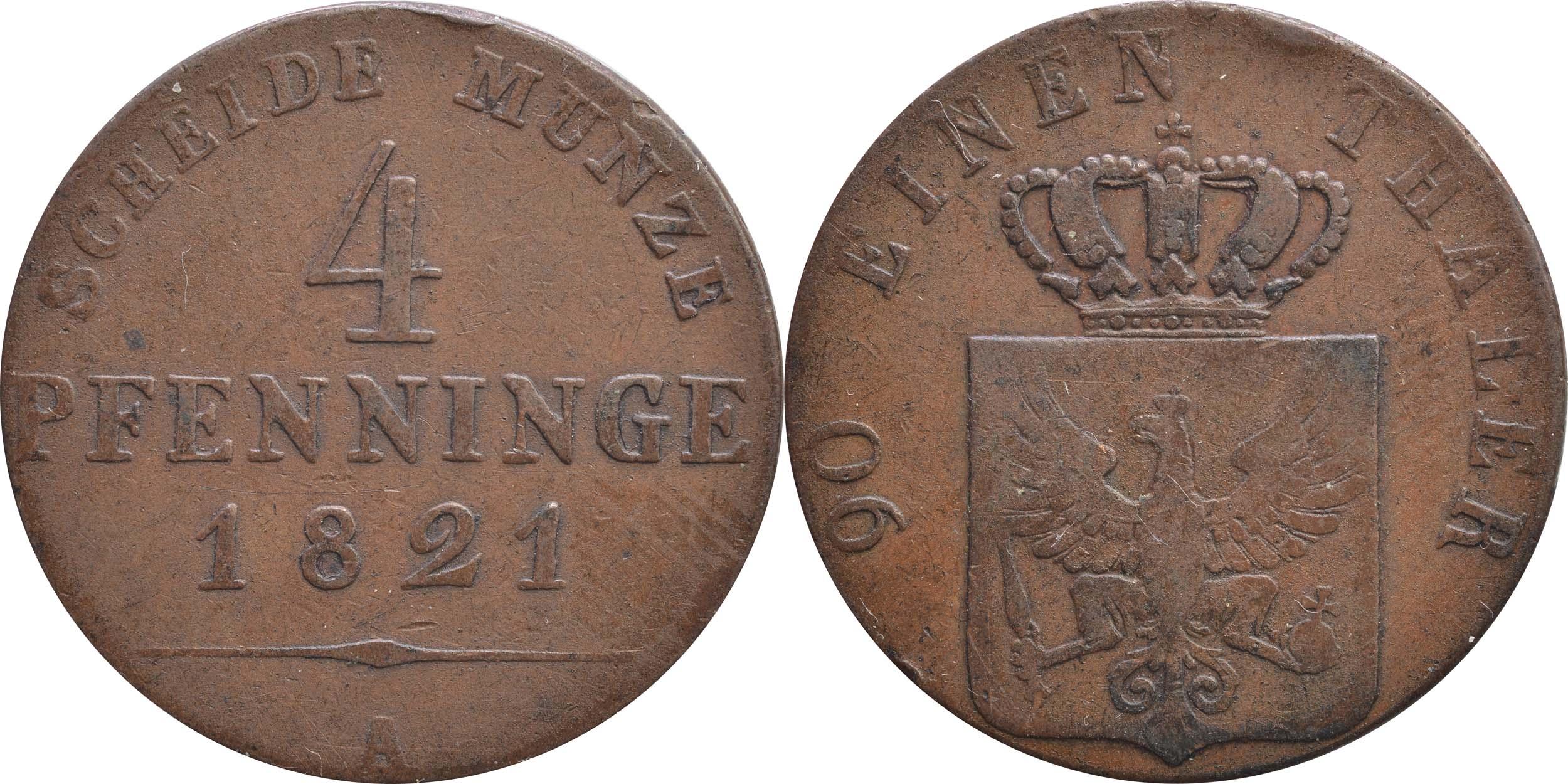 Übersicht:Deutschland : 4 Pfennig   1821 ss.