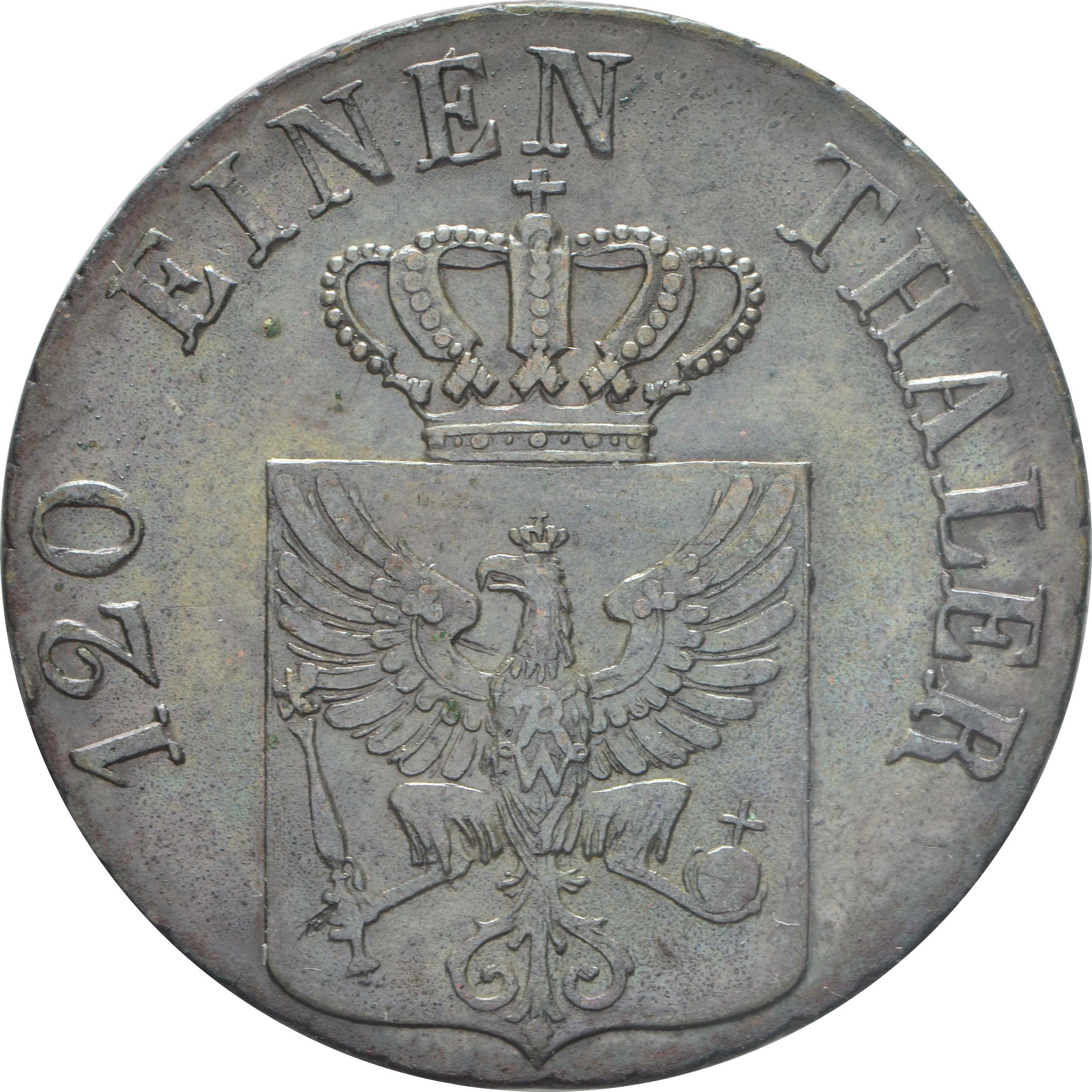 Rückseite:Deutschland : 3 Pfennige   1839 vz.