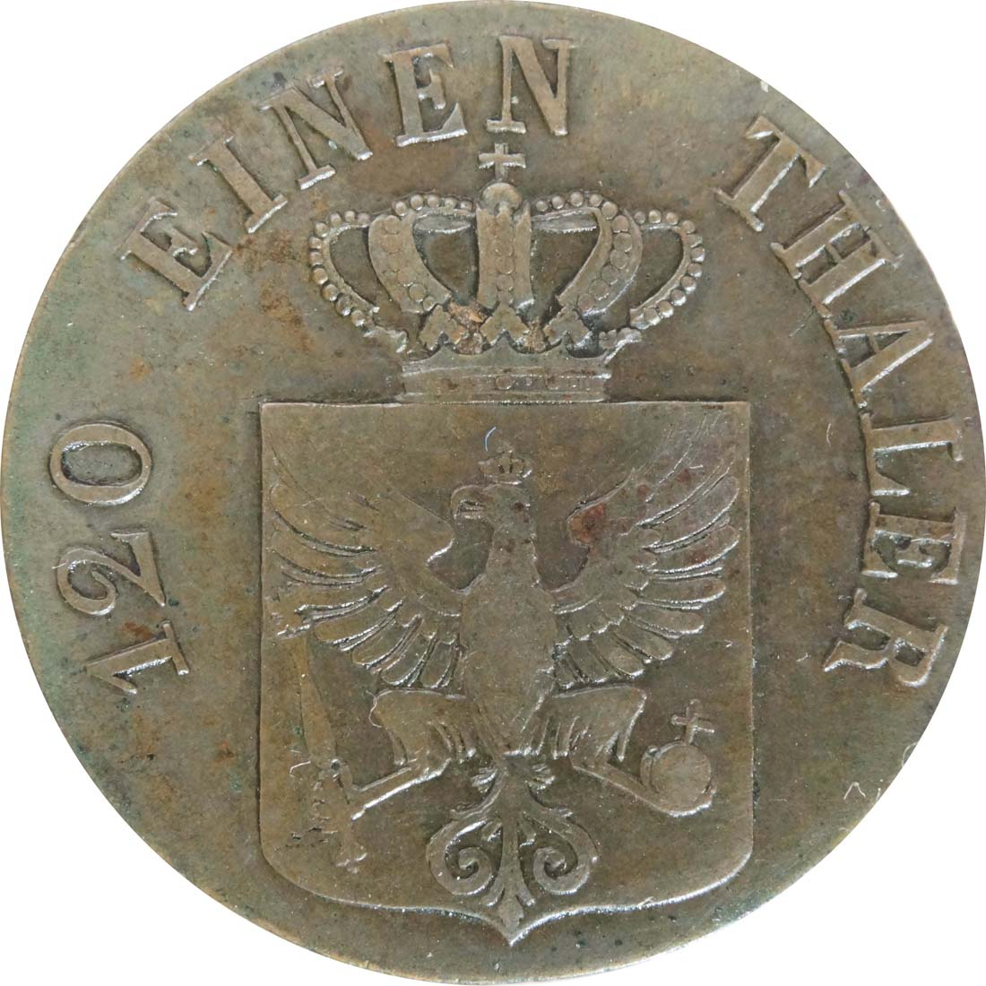 Rückseite:Deutschland : 3 Pfennig   1832 ss+
