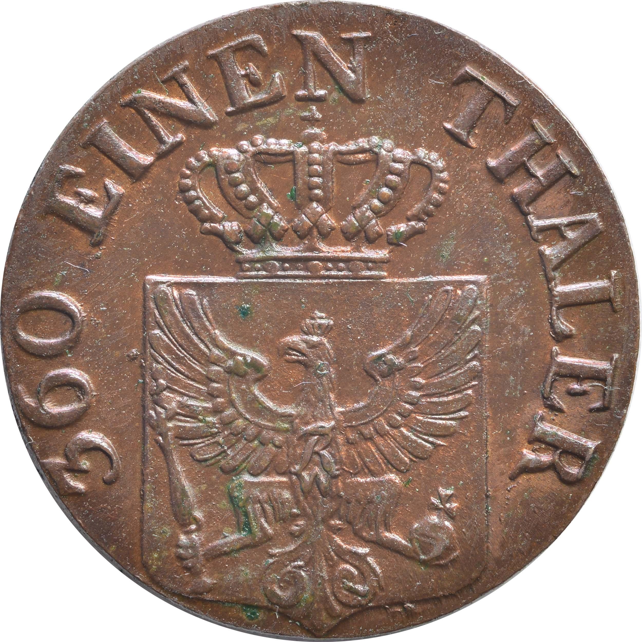 Rückseite:Deutschland : 1 Pfennig   1821 Stgl.