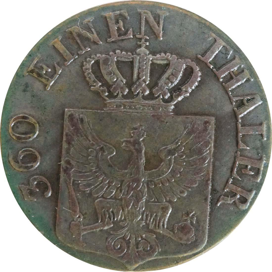 Rückseite:Deutschland : 1 Pfennig  patina 1832 vz/Stgl.