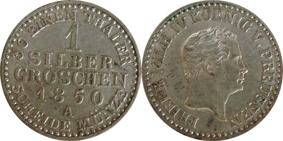 Deutschland : 1 Silbergroschen   1850 vz.
