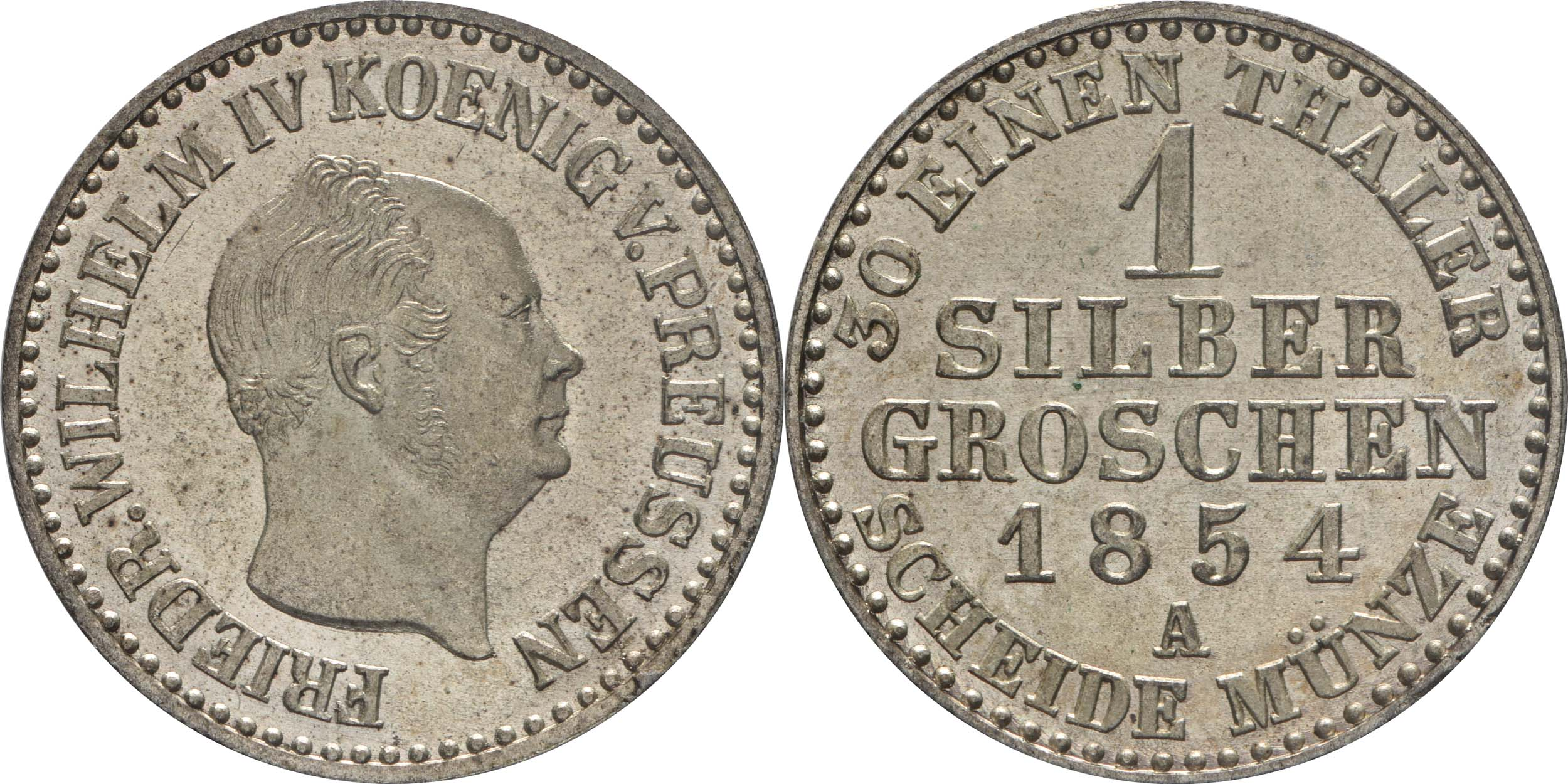 Deutschland : 1 Silbergroschen   1854 Stgl.
