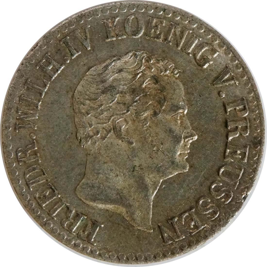 Rückseite:Deutschland : 1/2 Silbergroschen   1841 vz/Stgl.
