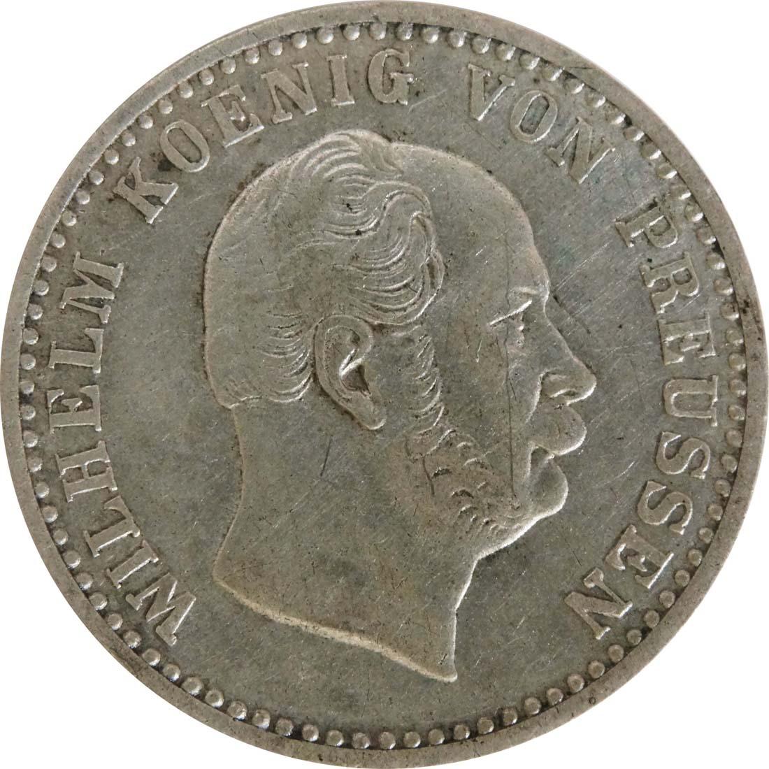 Rückseite:Deutschland : 2 1 /2 Silbergroschen   1871 f.vz.