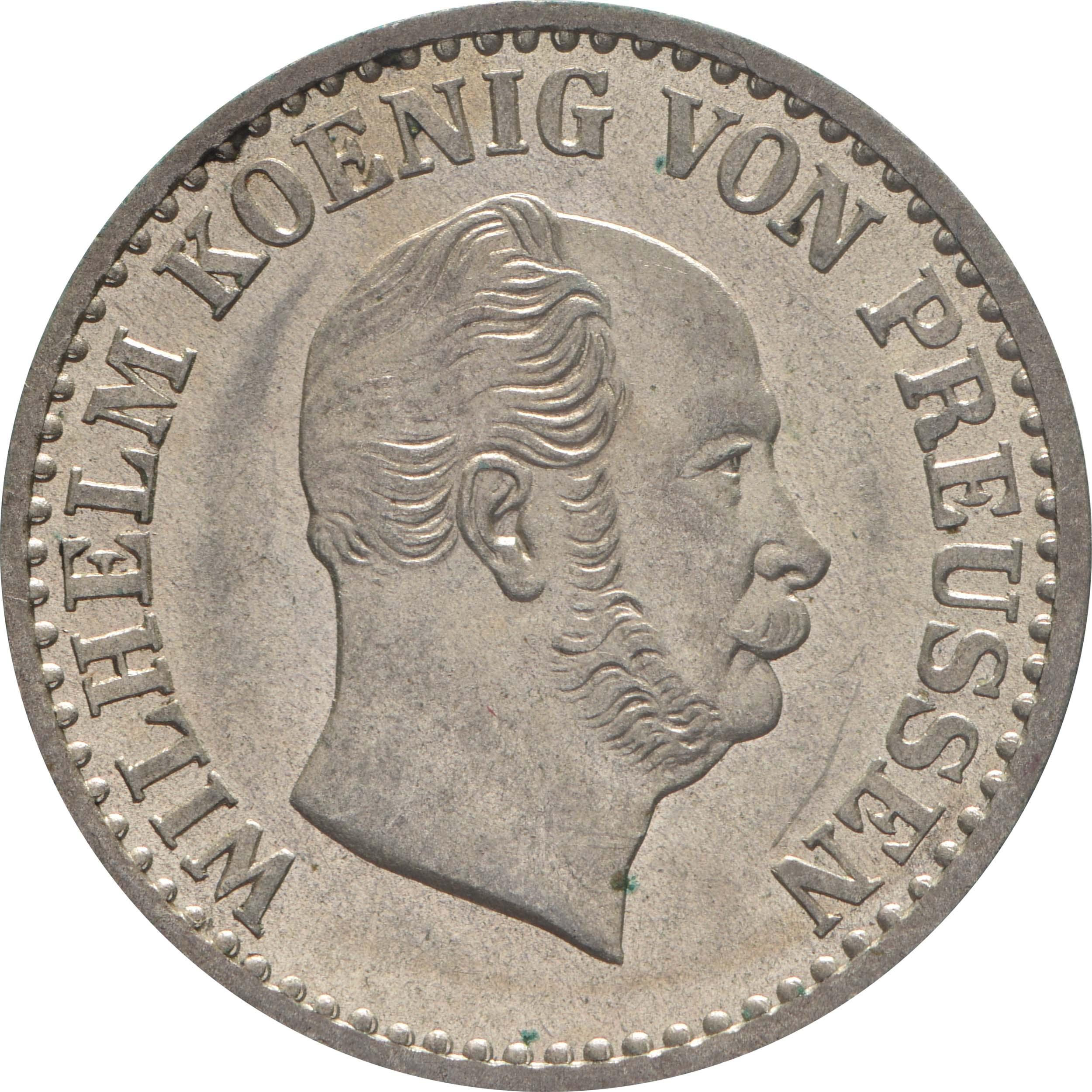 Vorderseite:Deutschland : 1 Silbergroschen   1870 vz/Stgl.