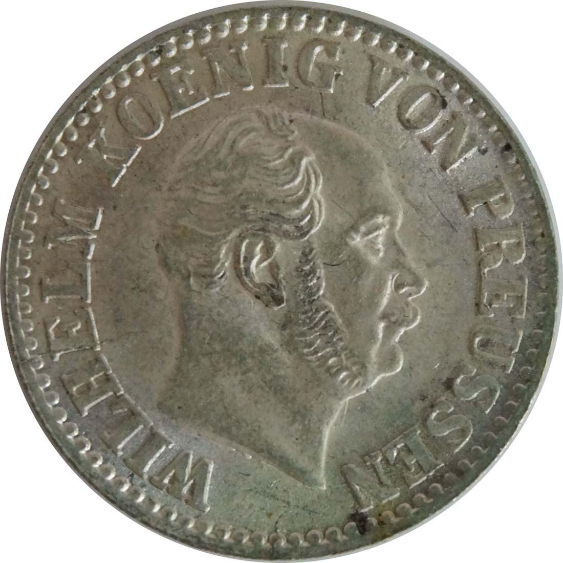 Rückseite :Deutschland : 1/2 Silbergroschen   1867 Stgl.