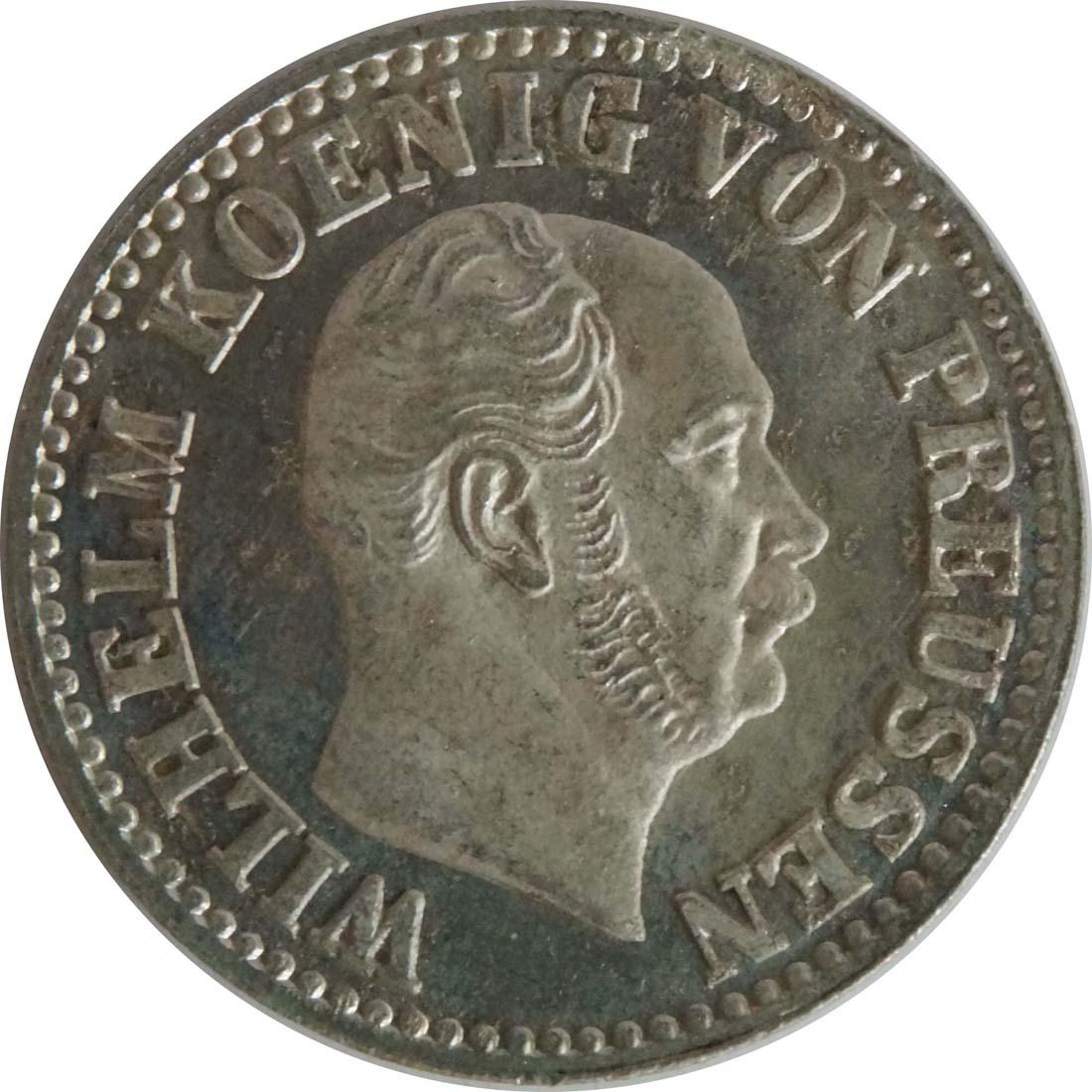 Rückseite:Deutschland : 1/2 Silbergroschen  !Erhaltung! 1872 Stgl.