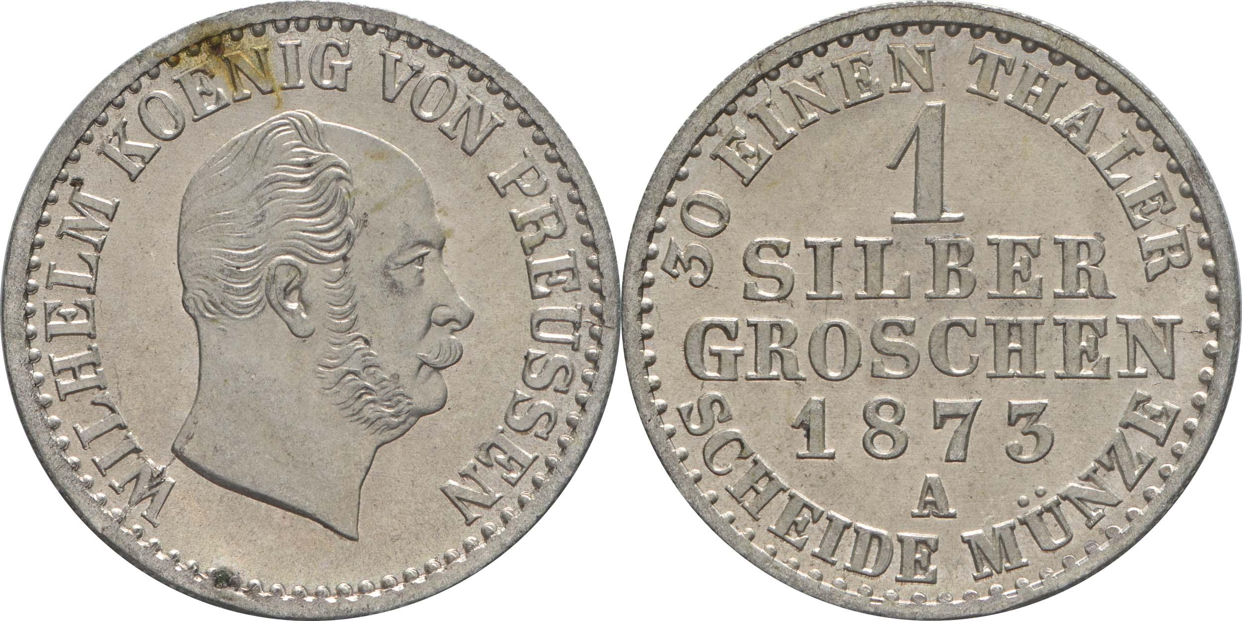 Deutschland : 1 Silbergroschen  -fein- 1873 Stgl.