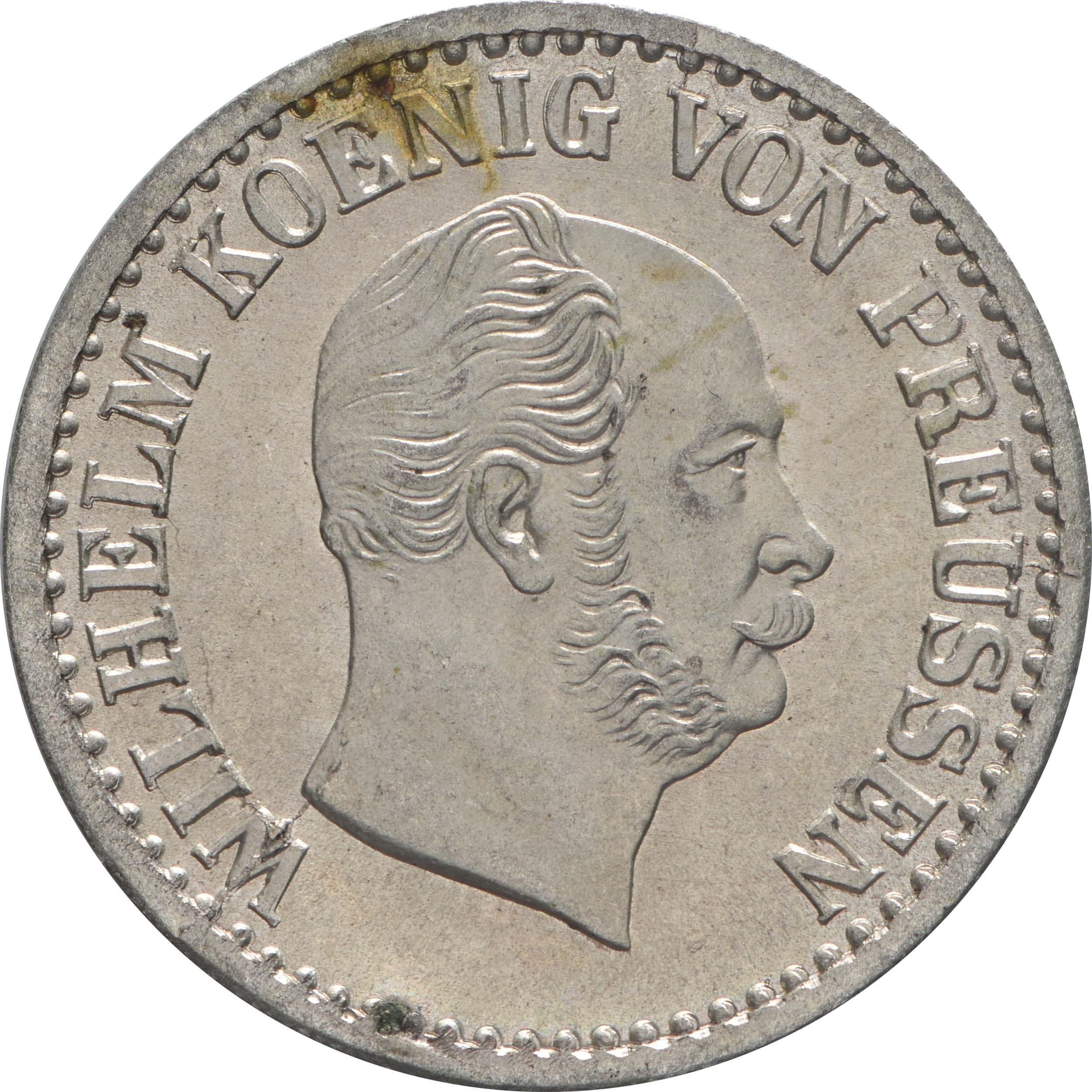 Vorderseite:Deutschland : 1 Silbergroschen  -fein- 1873 Stgl.